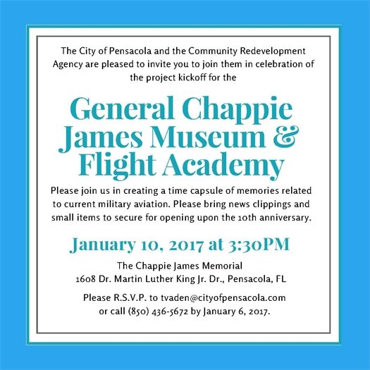 General Chappie James Museum & Flight Academy Invitation