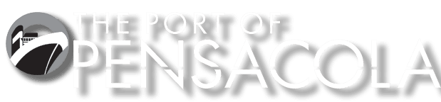 The Port of Pensacola Logo in White