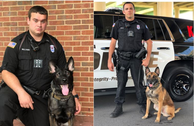 Williams and Mayo with K9s