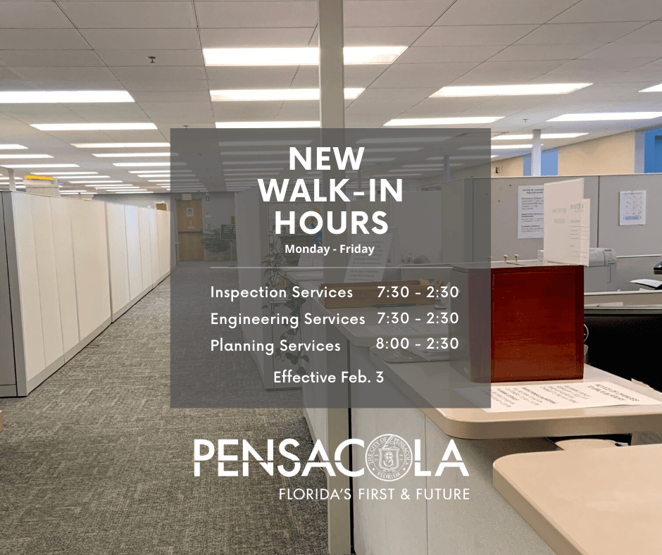 Graphic of new walk-in hours