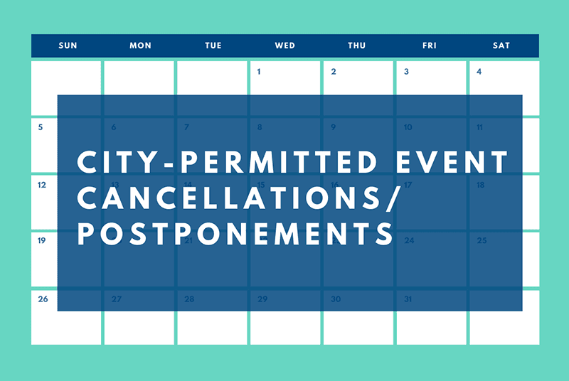City-permitted event cancellations and postponements