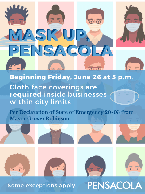 6/26/2020 Masks required in all businesses within City limits