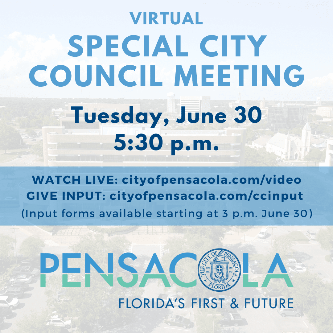 City Council will hold a special meeting Tuesday, June 30 at 5:30 p.m. in Council Chambers, located