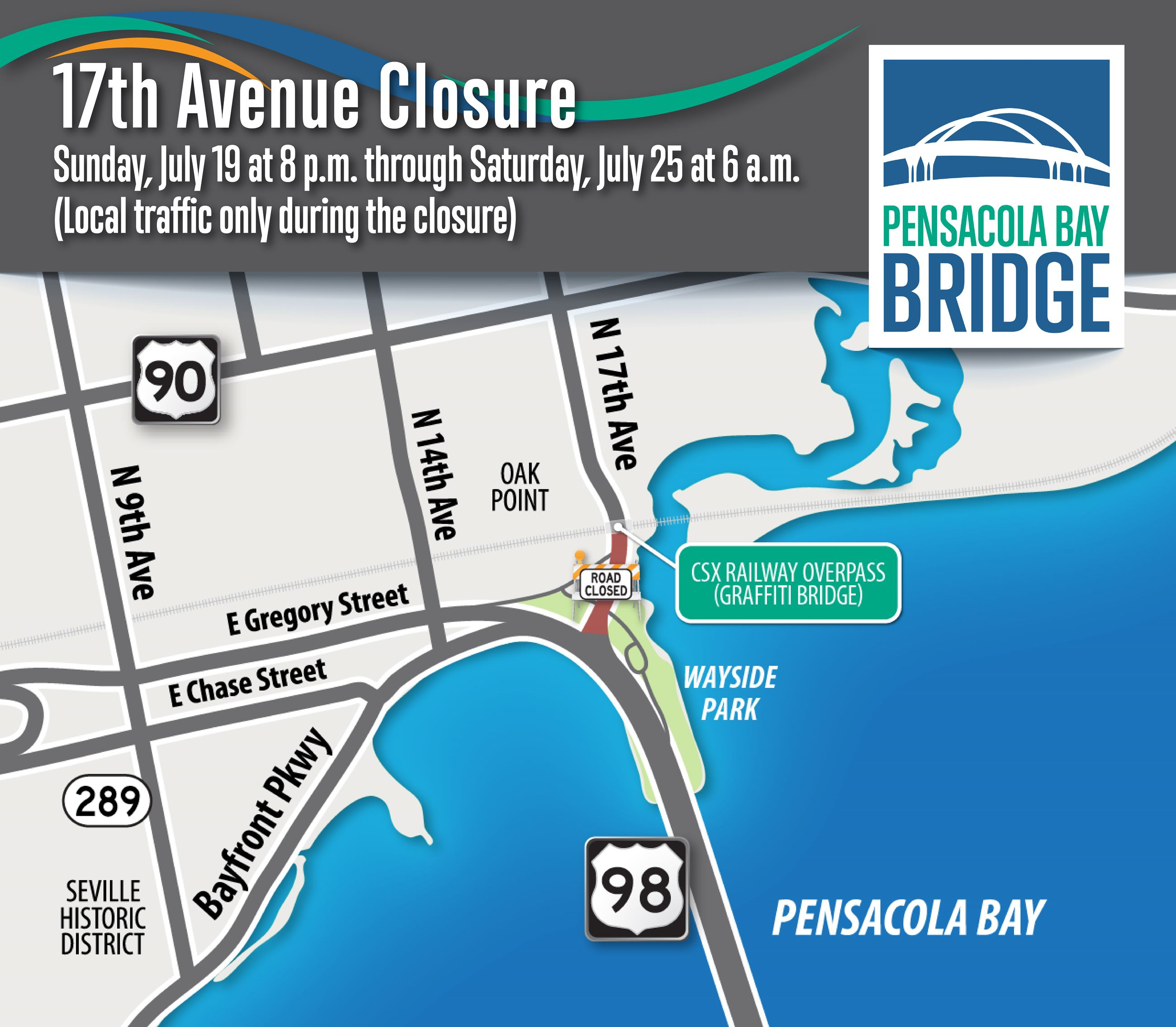 17th Avenue Closure July 19-25