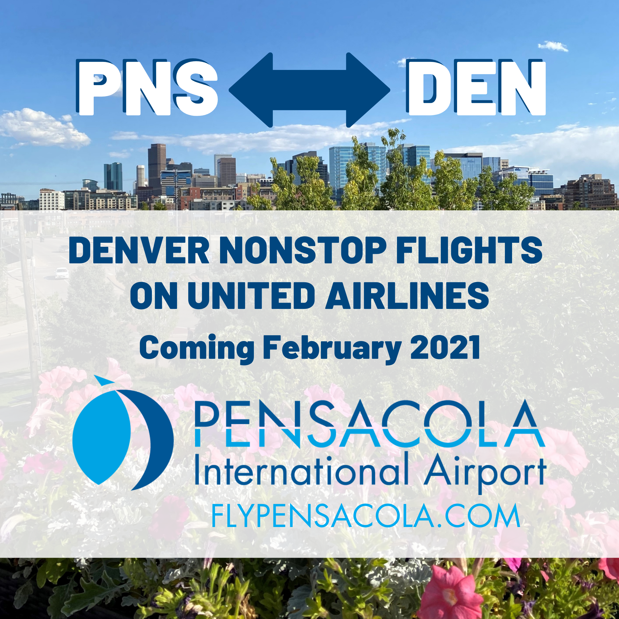Nonstop flights to Denver coming to PNS February 2021