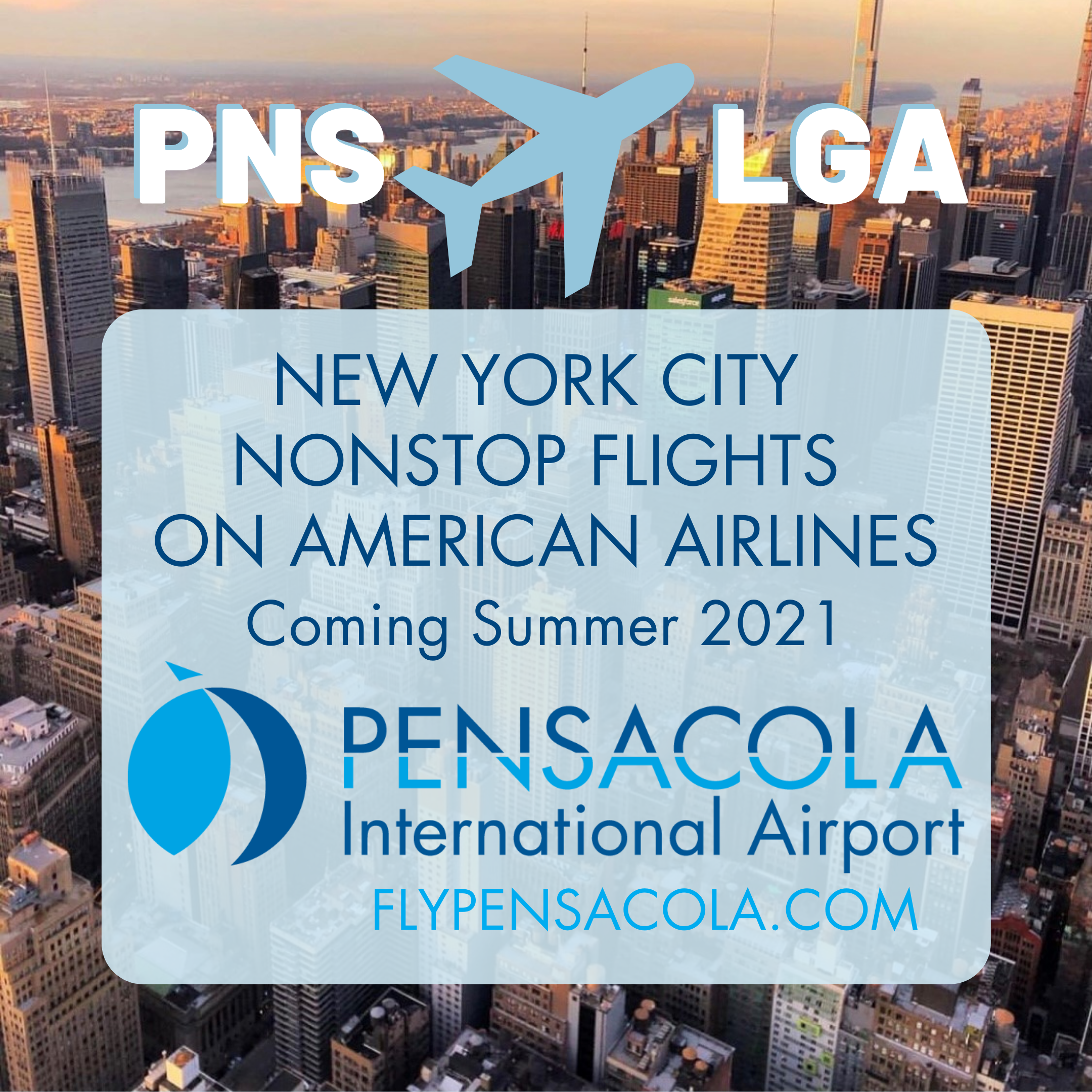 Nonstop flights to NYC coming to PNS summer 2021
