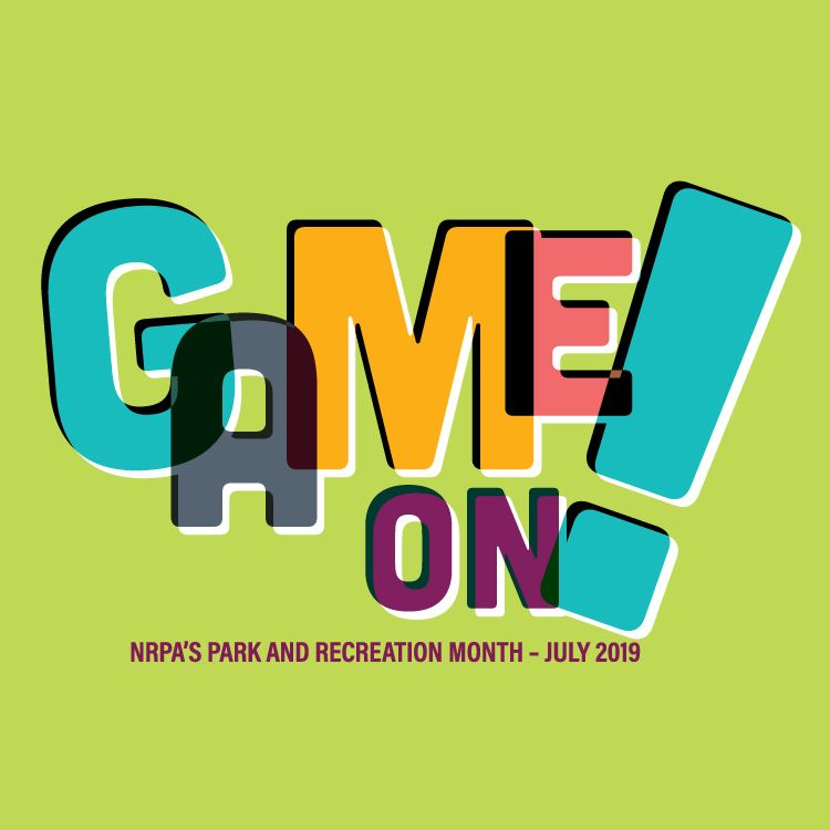 Game On Parks and Recreation Month logo